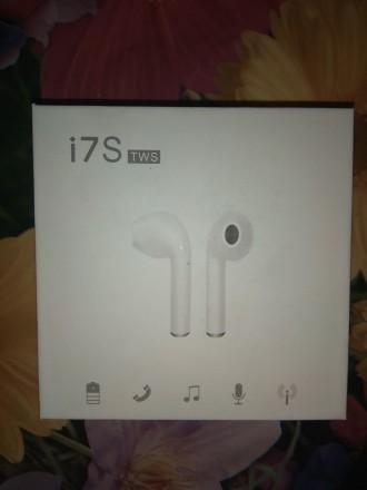 Беспроводные  наушники I7s TWS Bluetooth (Airpod Apple)  Удобные беспроводные . Козелец, Черниговская область. фото 4