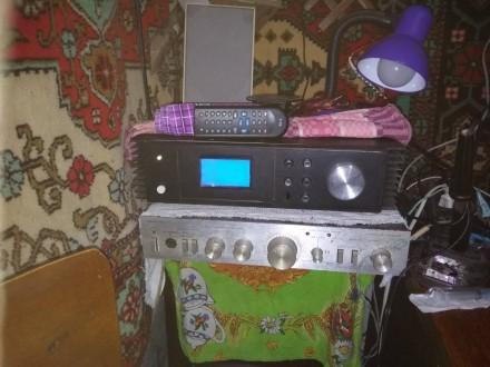 Усилитель 2х70Вт Hi-Fi atmega32 большой дисплей и теплообменники, ДУ. Смела. фото 1