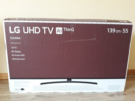 Lg55UK6400  Smart tv, 4K UHD. Самбор. фото 1