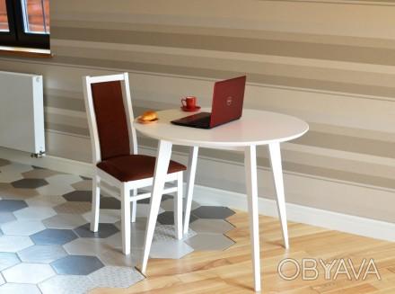 Круглий дерев'яний стіл «Ніцца» 90 - це кращий вибір для Вашої кухні - виготовле. Львов, Львовская область. фото 1