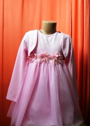 Плаття з болеро для дівчинки Тм Сміл. В рожевому кольорі р. 116-122. Вінниця. фото 1