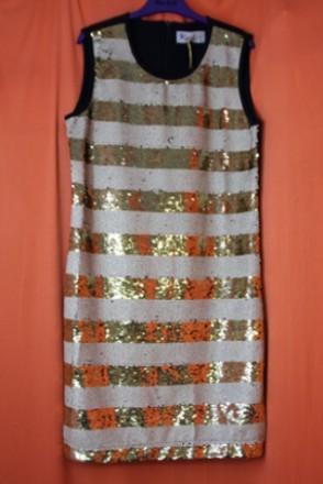 Нарядне плаття для дівчинки Тм Кas kids з синього трикотажа з пайєтками. Вінниця. фото 1