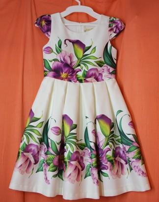 Нарядне плаття для дівчинки Тм Зіронька із атласної тканини з принтом. Вінниця. фото 1