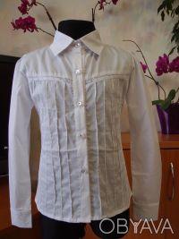 Красивые белые блузки для девочек в школу. Белая Церковь. фото 1