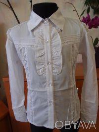 Красивые белые блузки для девочек в школу.                     В НАЛИЧИИ !!! С. Біла Церква, Київська область. фото 5