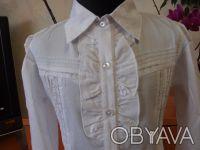 Красивые белые блузки для девочек в школу.                     В НАЛИЧИИ !!! С. Белая Церковь, Киевская область. фото 6