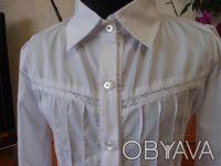 Красивые белые блузки для девочек в школу.                     В НАЛИЧИИ !!! С. Біла Церква, Київська область. фото 3