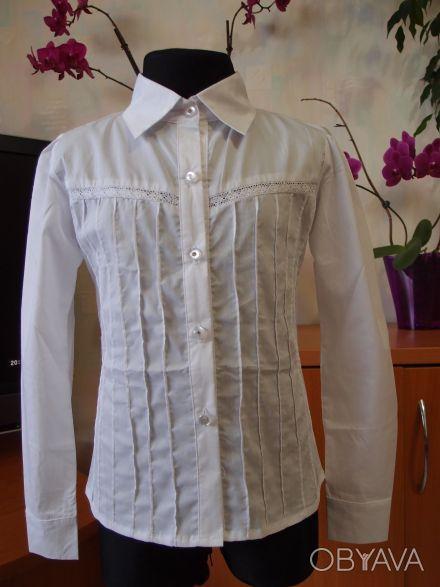 Красивые белые блузки для девочек в школу.                     В НАЛИЧИИ !!! С. Белая Церковь, Киевская область. фото 1