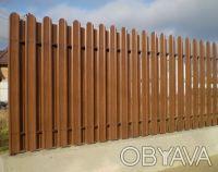 Производство металлических заборных планок для набора на секцию по размерам зака. Киев, Киевская область. фото 12