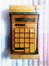 Бамбуковый калькулятор на солнечной батарее. Харьков. фото 1