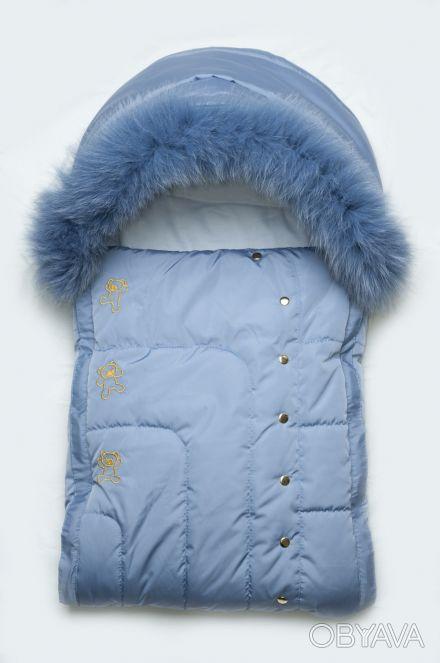 Зимний детский конверт на утеплителе PolyTex с натуральной опушкой. Если вы ищет. Дніпро, Дніпропетровська область. фото 1