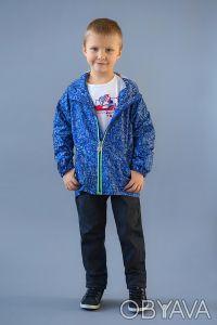Ветровка на хлопковой подкладке в морском стиле для мальчиков 2-6 лет. Выполнен. Дніпро, Дніпропетровська область. фото 3