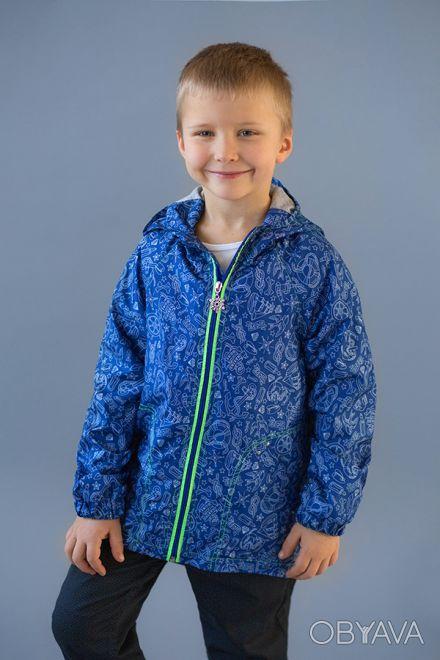Ветровка на хлопковой подкладке в морском стиле для мальчиков 2-6 лет. Выполнен. Дніпро, Дніпропетровська область. фото 1