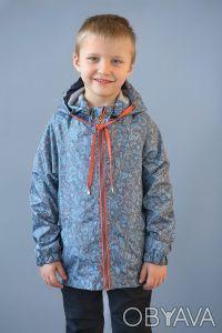 Ветровка морская для мальчика (серый). Днепр. фото 1