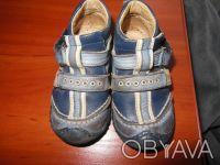 Демисезонные ботинки 21 размер.Ботинки кожаные, супинатор, твердая пяточка.Носил. Киев, Киевская область. фото 2