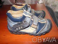Демисезонные ботинки 21 размер.Ботинки кожаные, супинатор, твердая пяточка.Носил. Киев, Киевская область. фото 3