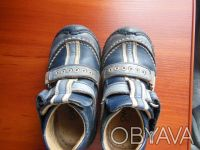 Демисезонные ботинки 21 размер.Ботинки кожаные, супинатор, твердая пяточка.Носил. Киев, Киевская область. фото 5
