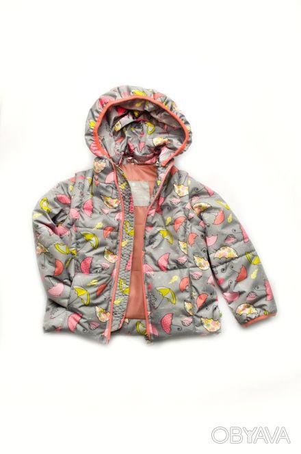 """Детская куртка-жилетка для девочки """"Зонтики"""".  Демисезонная куртка-жилетка для. Днепр, Днепропетровская область. фото 1"""