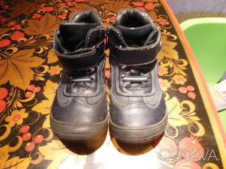 Демисезонные ботинки Tom.m кожа.Есть небольшие потертости, замок на левом туго з. Киев, Киевская область. фото 1