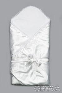 Конверт-одеяло на выписку для новорожденных (белый). Дніпро. фото 1