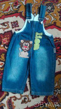 Комбинезон для мальчика в хорошем состоянии,джинс легкий.Размер 80-86, на 1-2 го. Киев, Киевская область. фото 3