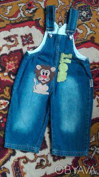 Комбинезон для мальчика в хорошем состоянии,джинс легкий.Размер 80-86, на 1-2 го. Киев, Киевская область. фото 2