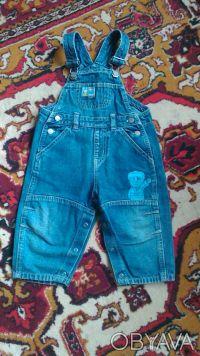 Комбинезон для мальчика в хорошем состоянии,джинс легкий.Размер 80-86, на 1-2 го. Киев, Киевская область. фото 4
