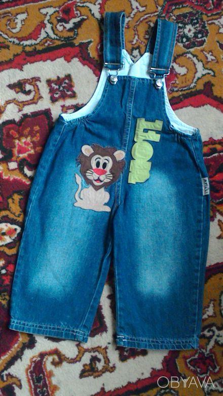 Комбинезон для мальчика в хорошем состоянии,джинс легкий.Размер 80-86, на 1-2 го. Киев, Киевская область. фото 1