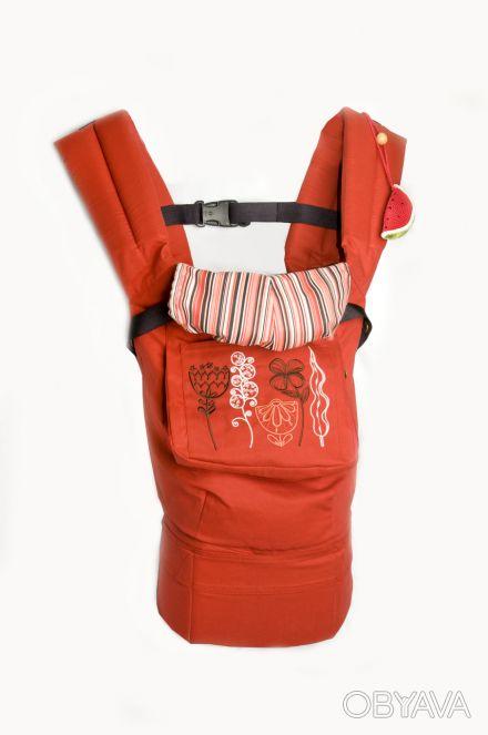 "Эрго-рюкзак ""My baby"" красно-терракотового цвета. ""My baby"" - это лучшее решени. Дніпро, Дніпропетровська область. фото 1"