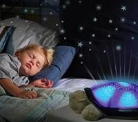 Ночник черепашка не только проецирует звезды на потолок, но и освещает комнату л. Київ, Київська область. фото 3