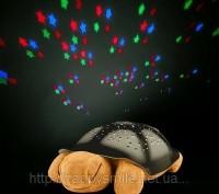 Ночник черепашка не только проецирует звезды на потолок, но и освещает комнату л. Киев, Киевская область. фото 2
