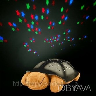 Ночник черепашка не только проецирует звезды на потолок, но и освещает комнату л. Киев, Киевская область. фото 1