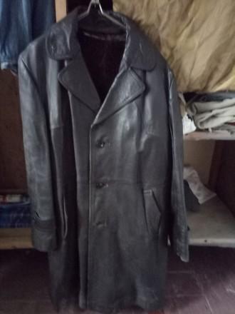 Кожаное пальто. Николаев. фото 1
