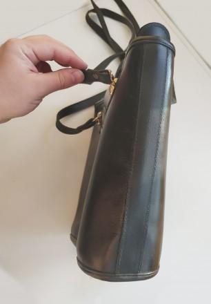 Итальянская винтажная сумка la toscana на змейке из качественной толстой кожи с . Бровары, Киевская область. фото 7