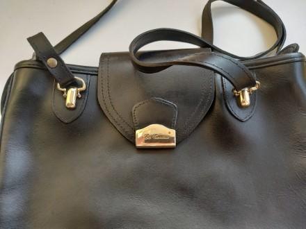 Итальянская винтажная сумка la toscana на змейке из качественной толстой кожи с . Бровары, Киевская область. фото 4