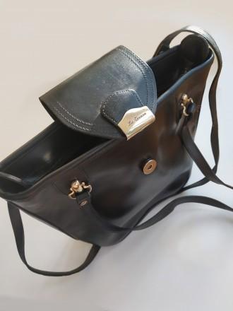 Итальянская винтажная сумка la toscana на змейке из качественной толстой кожи с . Бровары, Киевская область. фото 11