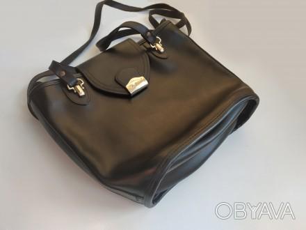 Итальянская винтажная сумка la toscana на змейке из качественной толстой кожи с . Бровары, Киевская область. фото 1