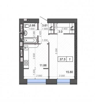Продам одно комнатную квартиру на  улице Новооскольская 6Б г. Ирпень. просторную. Фортуна ЖК, Ирпень, Киевская область. фото 5