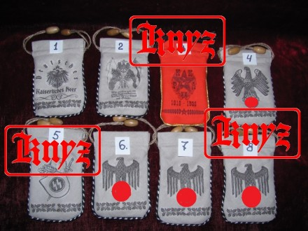 Кисеты для табака Германия ( Пмв , Вмв) и РККА. Умань. фото 1