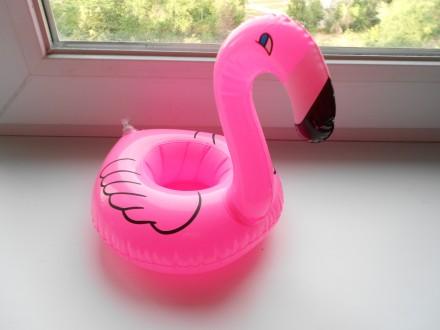Прикольный надувной подстаканник розовый фламинго. Запорожье. фото 1