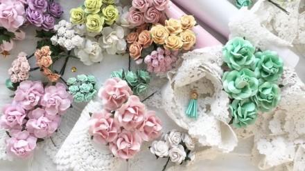 Бумажные цветы для скрапбукинга. Запорожье. фото 1