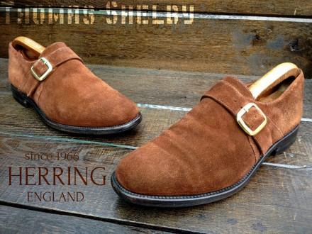 Herring. Замшевые мужские монки туфли броги. Bally Church's Loake. Ровно. фото 1