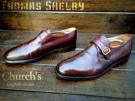 Church's. Кожаные мужские монки туфли броги Loake Bally Cheaney. Ровно. фото 1
