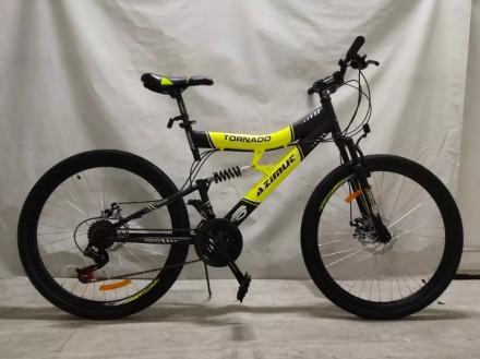 Спортивный Подростковый велосипед Azimut Tornado 24 дюйма,дисковые тормоза. Одесса. фото 1