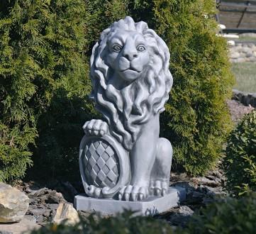 Садовая скульптура Лев – презентабельный декор для сада. Лев - символ власти и с. Хмельницкий, Хмельницкая область. фото 2