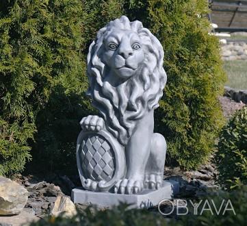 Садовая скульптура Лев – презентабельный декор для сада. Лев - символ власти и с. Хмельницкий, Хмельницкая область. фото 1