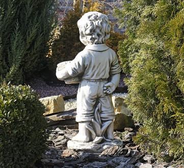 Садовая скульптура Мальчик с цветочным горшком – красивая уличная фигура выполне. Хмельницкий, Хмельницкая область. фото 5