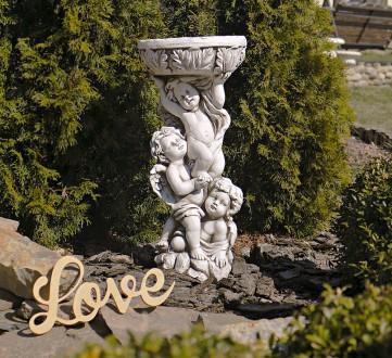 Садовая статуя Три Ангела – не только милый декор для сада, но и оригинальная по. Хмельницкий, Хмельницкая область. фото 2