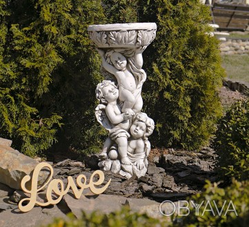 Садовая статуя Три Ангела – не только милый декор для сада, но и оригинальная по. Хмельницкий, Хмельницкая область. фото 1