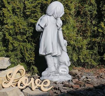 Садовая фигура девушки из провинции – замечательная скульптура девочки с собачко. Хмельницкий, Хмельницкая область. фото 6